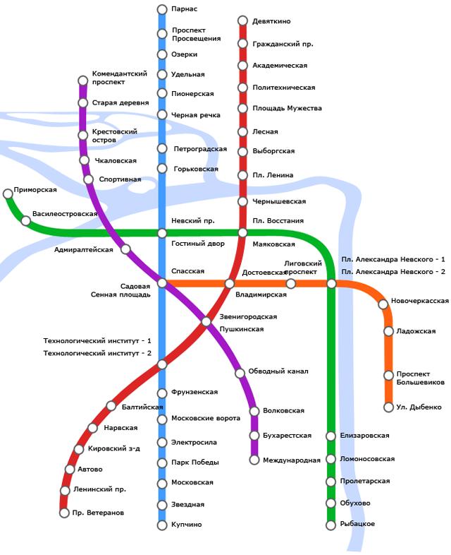 Карта Санкт-Петербургского